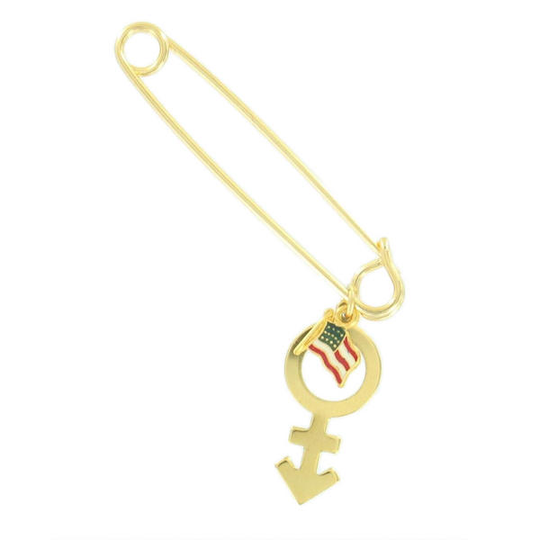 Support Transgenders Are Patriots Rights To Serve Military Charm Safety Pin USA
