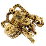 View Item Unsigned Designer Art Zodiac Scorpio Ring Sz 6.5