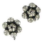 View Item Vintage Sterling Silver Flower Screw Back Earrings