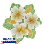 Pin Brooch Floral China Yellow White Flower Bouquet Thumbnail 1