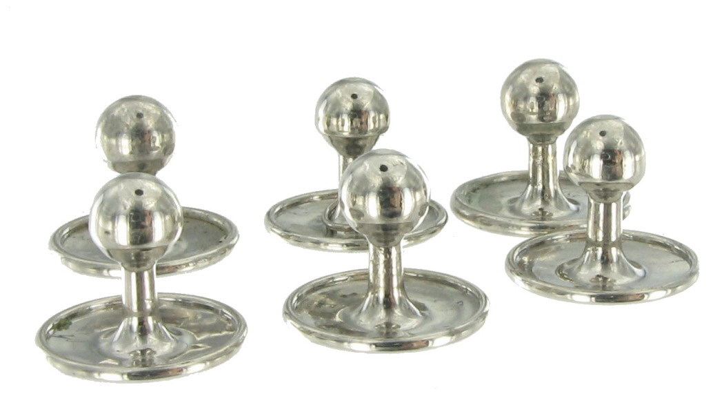 Collar Buttons Silver Men S Rio Vintage 2767 17