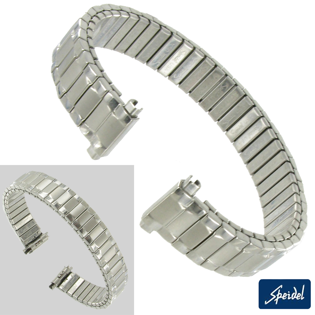 10-13mm Ladies White Gold GP Replacement Watch Band Speidel Preview