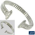 "View Item 10-13mm Expansion Watch Band Buckle Look Stainess 5 3/8"" Speidel Ladies"