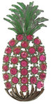 View Item Art Deco Rhinestone Pink Pineapple Brooch