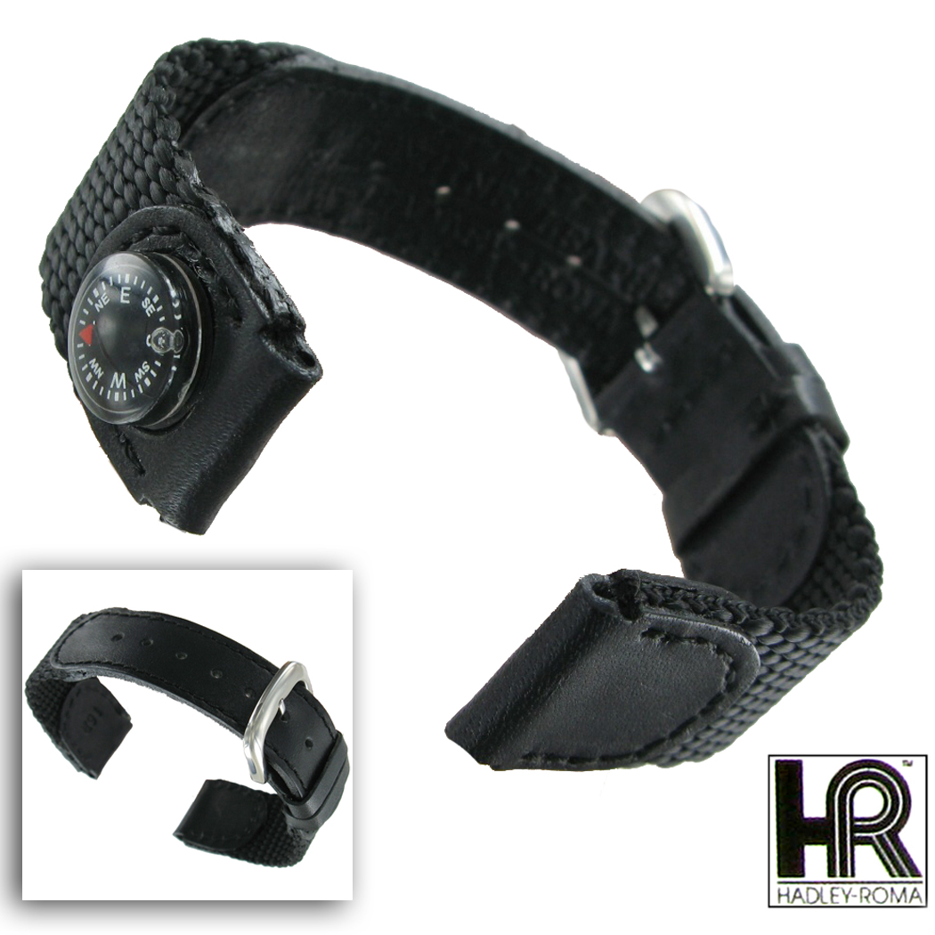 Compass Watch Strap Watch Band Compass Black