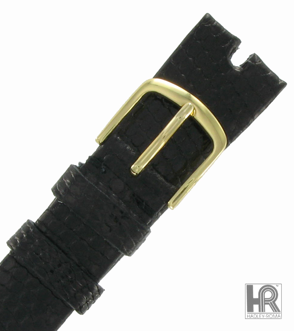 Hadley Roma MS972 18mm Black Java Lizard Watch Strap Band