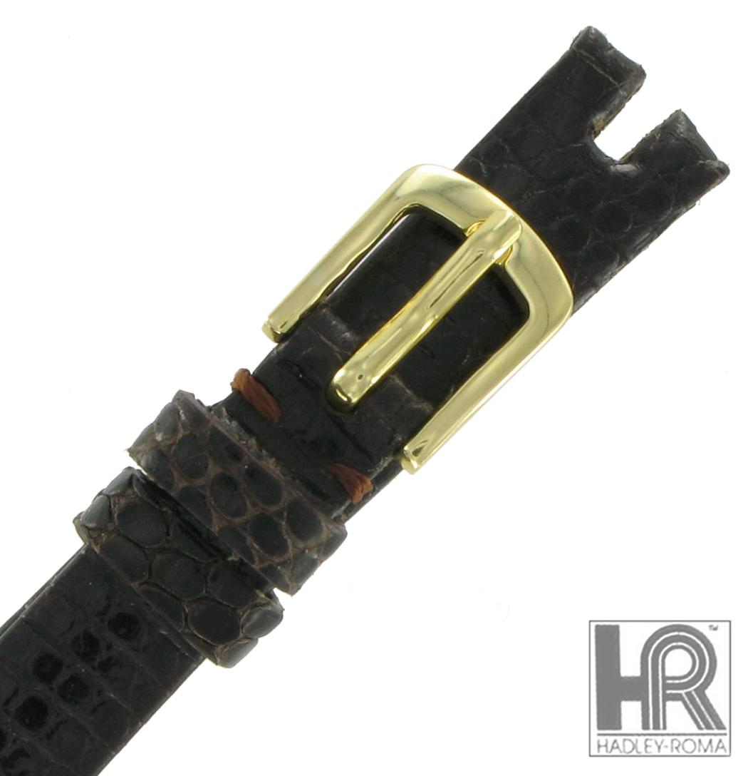 Hadley Roma LS974 10mm Brown Java Lizard Watch Strap Band Ladies