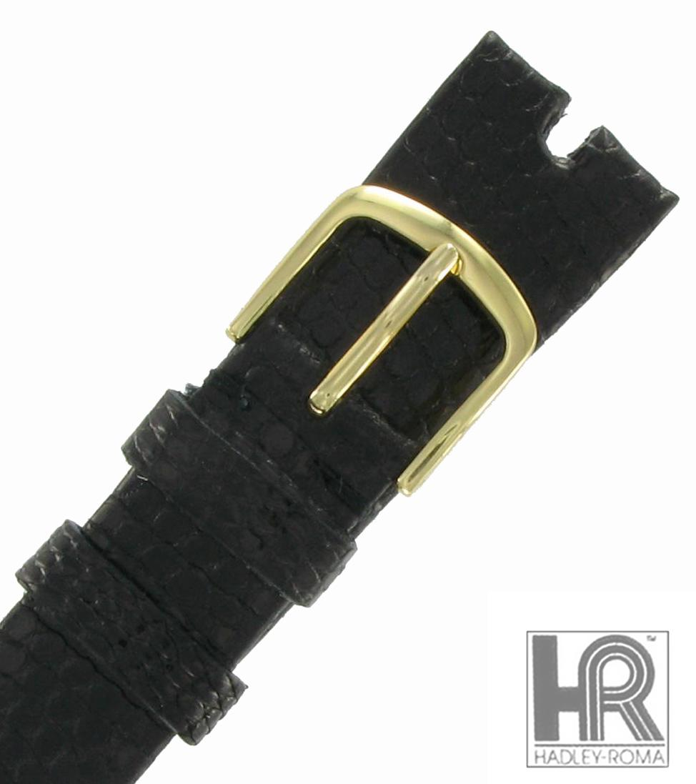 Hadley Roma MS972 16mm Black Java Lizard Watch Strap Band