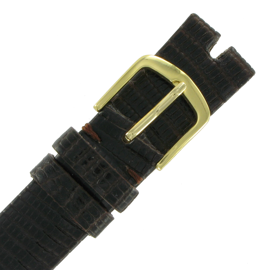 Hadley Roma MS972 16mm Brown Java Lizard Watch Strap Band