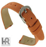 Hadley Roma LS732 12mm Orange Grosgrain Ribbon Speedstrap Watch Band
