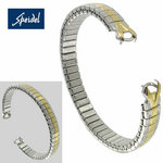 Speidel C Ring Ladies Two Tone Expansion Hook End Watch Band SPO