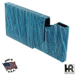 Turquoise Blue Leather Business Card Case Holder Thumbnail 1