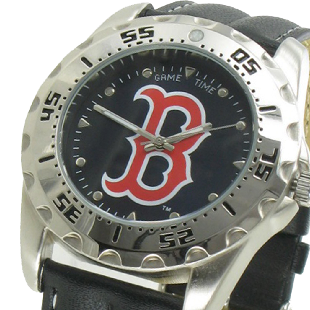 Game Time Watch Wallet Mens Boston Red Sox Leather Gift Set MTO Thumbnail 2