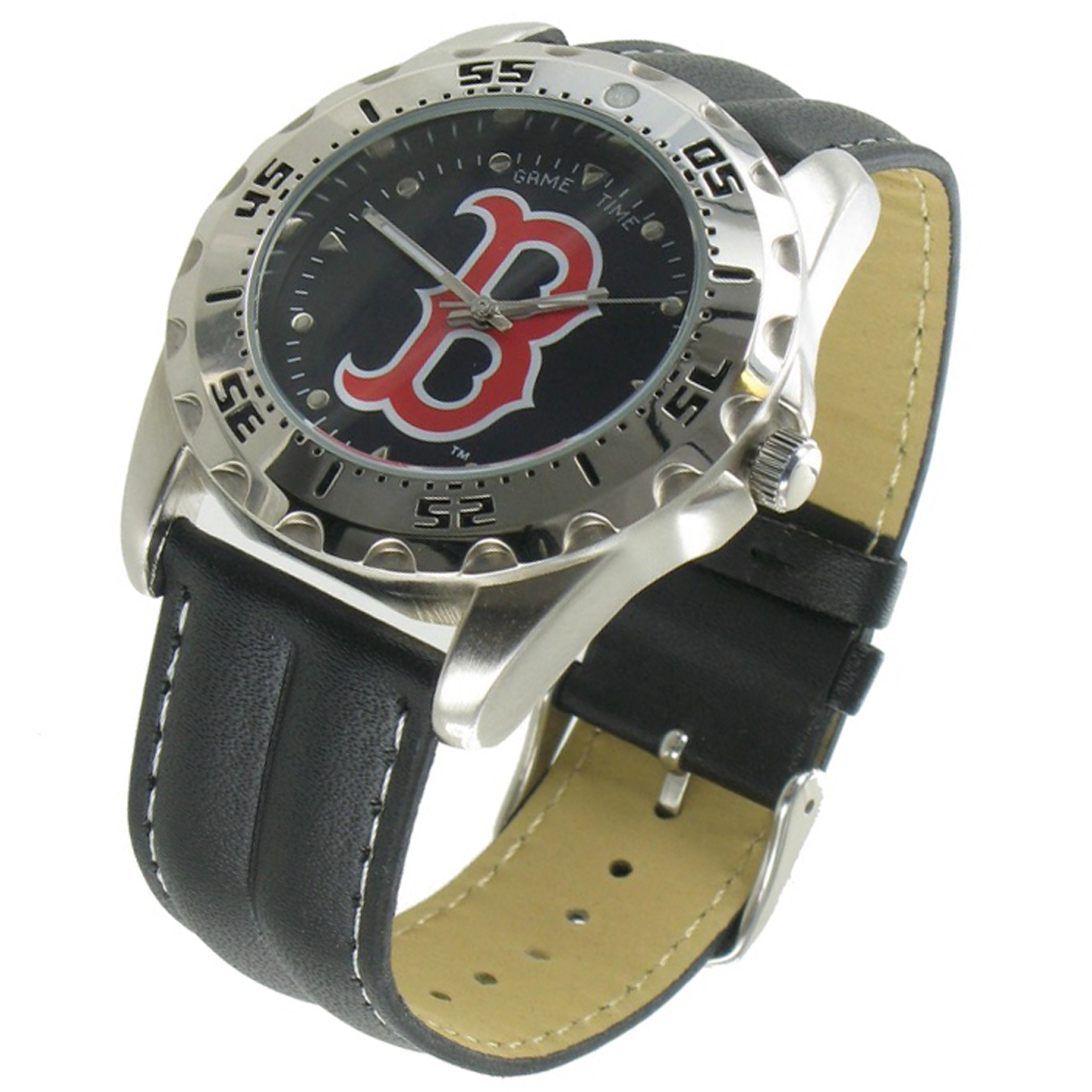 Game Time Watch Wallet Mens Boston Red Sox Leather Gift Set MTO Thumbnail 3