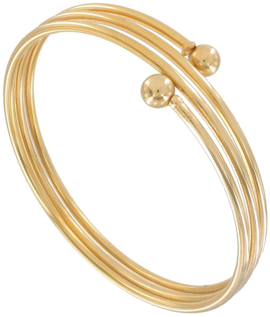Gold Band Bracelet: Ky & Co Bracelet Upper Arm Gold Tone Metal Band Triple