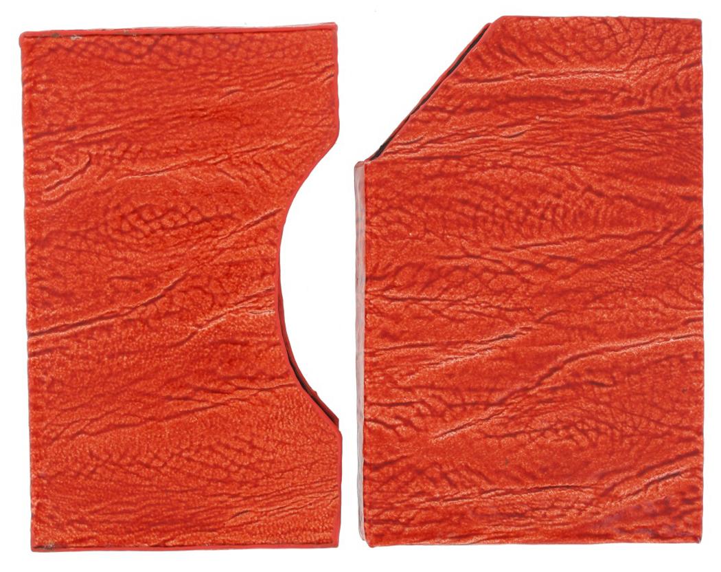orange textured leather business card case holder ebay