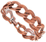 View Item New Copper Ox Chunky Double Link Chain Bracelet
