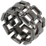 View Item Link Bracelet Gunmetal Black Plated Large Chunky Wide Ladies Made USA