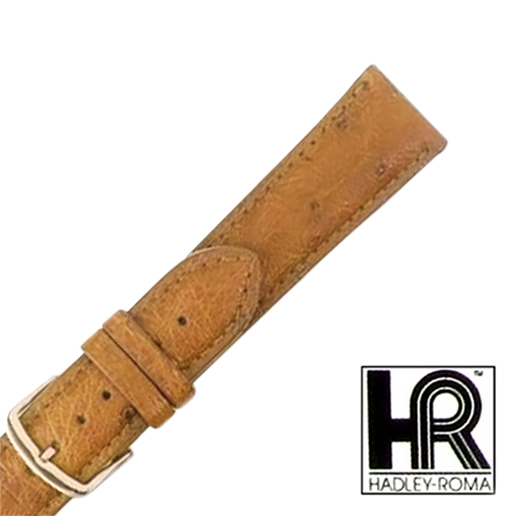 View Item Hadley Roma MS2003 18mm Regular Natural Genuine Ostrich Watch Band