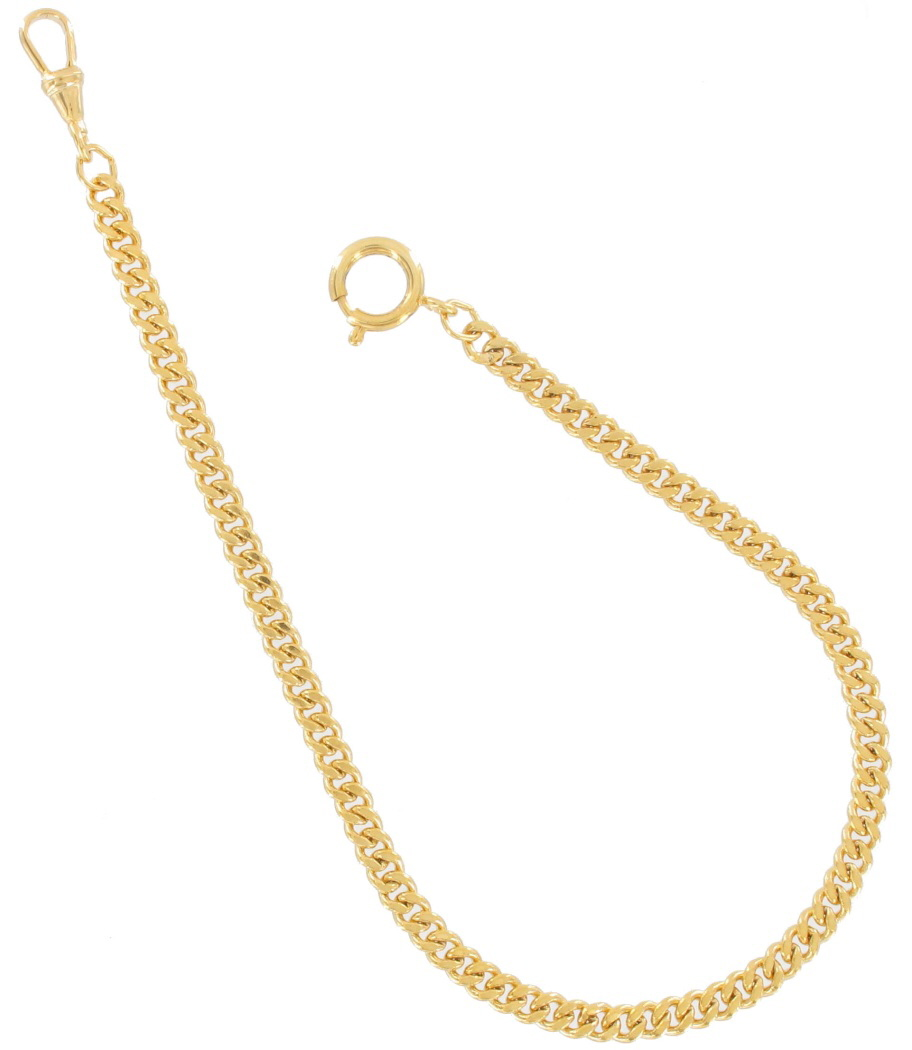 vintage men s gold tone curb 11 swivel clasp vest pocket vintage men s gold tone curb watch chain 11 swivel clasp
