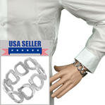"Rochet Mens Bracelet Isis Stainless Steel Mens 8"" Wide Large"