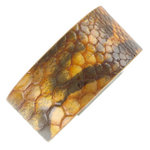 Genuine Leather Heart Cuff Bracelet Snake Grain Wrap Animal Print Thumbnail 2