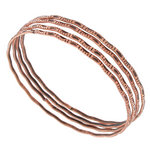 Ky & Co Bangle Bracelet Set 4 Copper Ox Tone Thin USA Catalina Regular Size