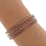 Ky & Co Bangle Bracelet Copper Ox Tone Faceted Metal Thin Made USA Set 4 Small Thumbnail 3