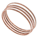 Ky & Co Bangle Bracelet Antiqued Rose Gold Tone Thin USA Set 4 Cambridge Thumbnail 1