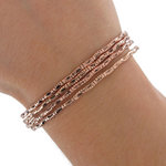 Ky & Co Antiqued Rose Gold Tone Thin Bangle Bracelet Set 4 Tribal Etched USA Made Thumbnail 3