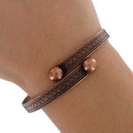 Wesley Wrap Bangle Bracelet Copper Ox Tone Made In USA One Size Fits Most Thumbnail 3