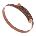 Wrap Bangle Bracelet Copper Ox Tone Made In USA One Size Fits Most