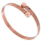 Emery Wrap Bangle Antiqued Rose Gold Tone One Size Fits All Bracelet Made in USA Thumbnail 1