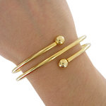 Ky & Co Yellow Gold Tone Coil Spiral Bangle Bracelet USA Made Women's Size Large Thumbnail 4