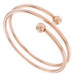 Ky & Co Bangle Bracelet Spiral Rose Gold Tone Coil Women's Size Large USA Made Thumbnail 2