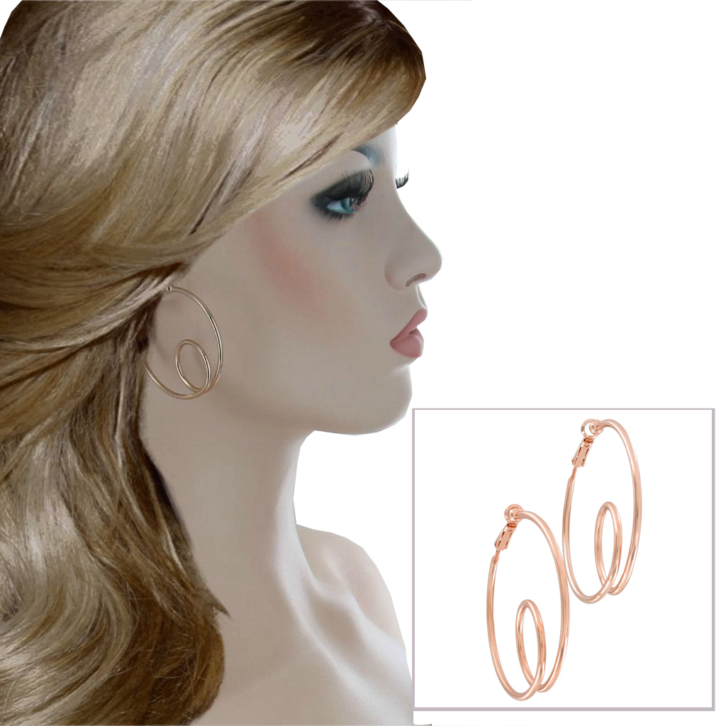 Usa Made Rose Gold Hoop 3672 61 F Hoops Ajraefields