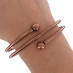 Ky & Co Bracelet Spiral Copper Ox Tone Coil Bangle Bracelet Large Thumbnail 3
