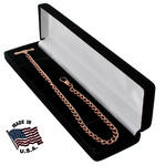 "Ky & Co Vest Pocket Watch Chain Long 12"" Curb Link Rose Gold Tone"