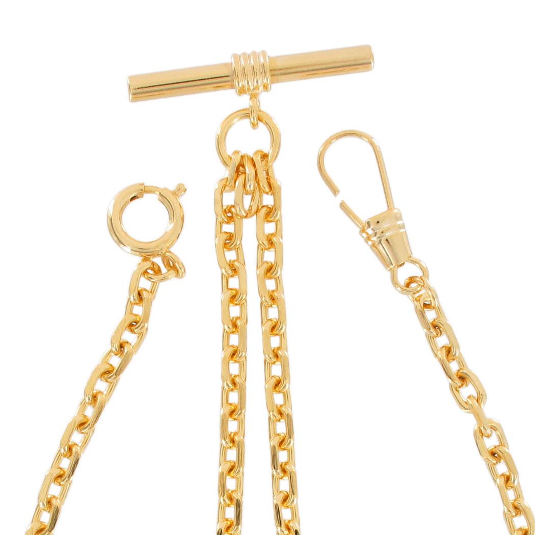 how to wear double albert pocket watch chain