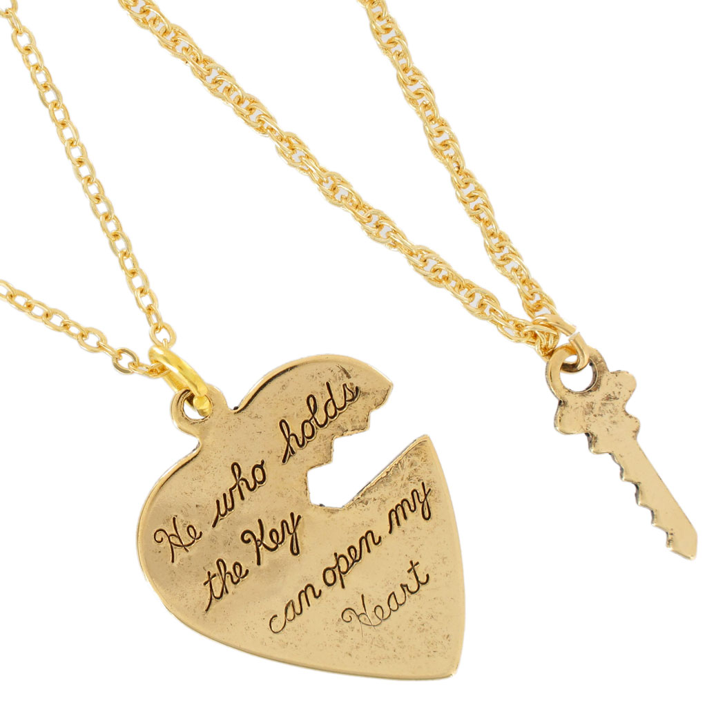 Pendant Key To My Heart Sweetheart Necklace Small Couples ...