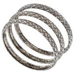 Ky & Co Set Of 3 Bracelets Antiqued Silver Tone Basket Weave Design