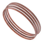 KY & Co USA Made Bangle Bracelet Copper Ox Tone Sussex Metal Thin 4 Xl