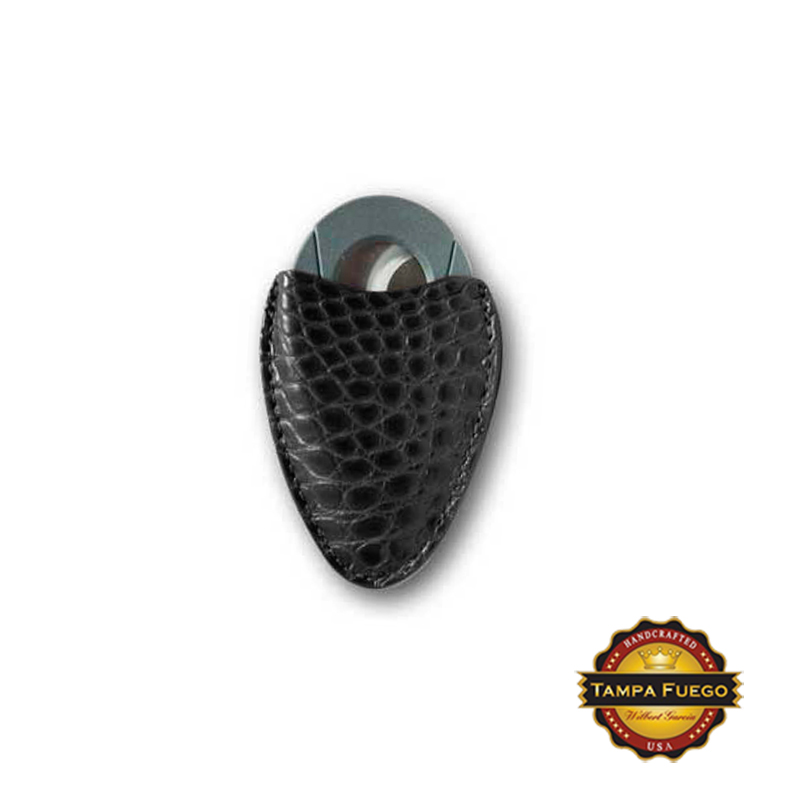 Tampa Fuego Cigar Cutter Case Genuine Alligator Black Fits Xikar- SPO