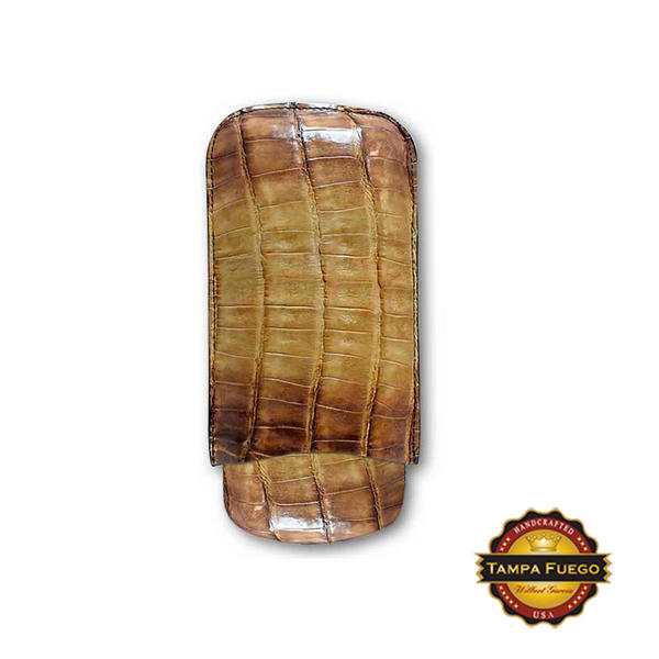 Tampa Fuego Natural Cigar Case Vintage Genuine Crocodile Full All Sides - SPO