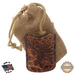 Tampa Fuego Natural Cigar Lighter Case Crocodile Vintage Fits Xikar Father's Day Thumbnail 1