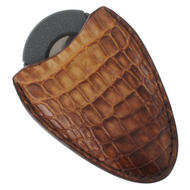 Tampa Fuego Natural Cigar Cutter Case Vintage Crocodile Fits Xikar Father's Day Thumbnail 3