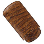 Tampa Fuego Brown Cigar Case Genuine Vintage Crocodile Father's Day Thumbnail 4