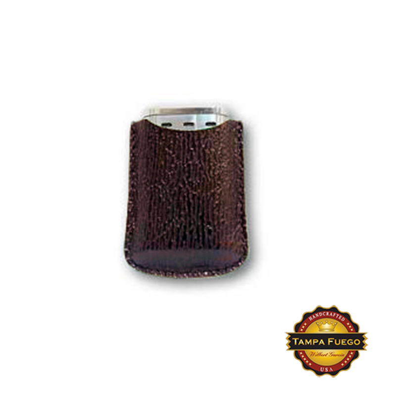 Tampa Fuego Burgundy Cigar Lighter Case Genuine Shark Fits Xikar- SPO Thumbnail 1