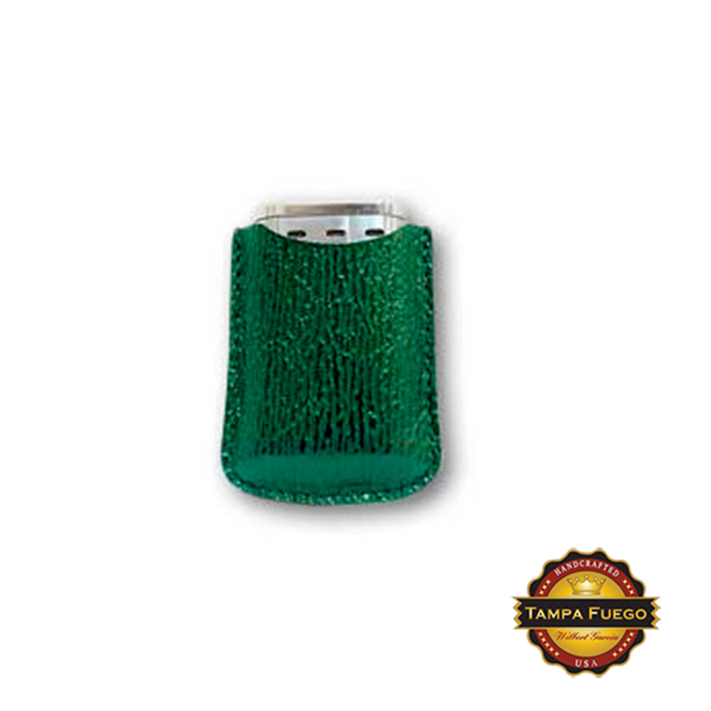 Tampa Fuego Green Cigar Lighter Case Genuine Shark Fits Xikar- SPO Thumbnail 1