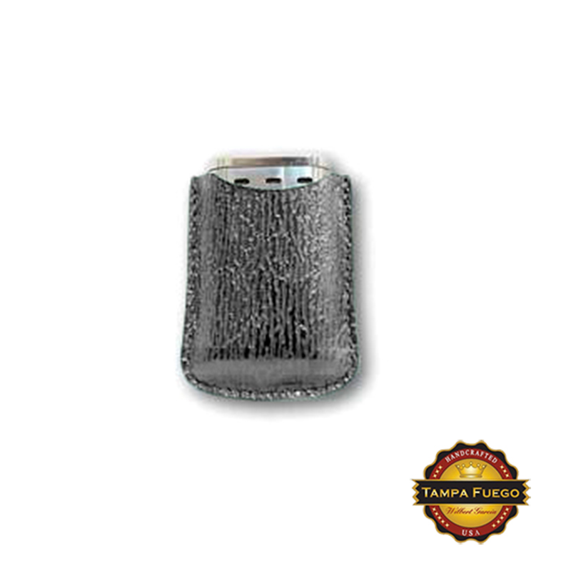 Tampa Fuego Grey Cigar Lighter Case Genuine Shark Fits Xikar- SPO Thumbnail 1
